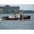 newyorkcity downtown manhattan coastguard boat patrol island bridge