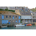 0207 Looe Cornwall UK Quay Boat Moored