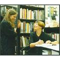My Daughter Catherine signing books for her adoring public. Not a good photo but I am very proud ...