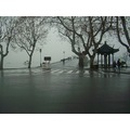China rain wet day lake