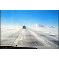snow weather road driving white wind storm volvo car Iceland whiteout