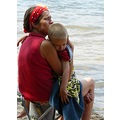 color people mother women kid boy friends summer holiday