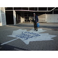 At 6:51pm.That's Omer-having his picture taken by the Maple Leaf-outside the Union Station onto M...