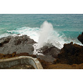 Waves were pretty powerful yesterday at the Blow Hole. You will see by these 3 pictures why they ...
