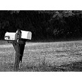 mailbox mail rain road rural blackwhite