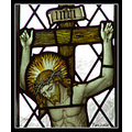stained glass window church chapel jesus god cross