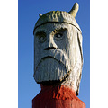 viking carving wood horns helmet