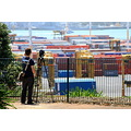 I never worked out why he was photogaphing the container port