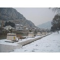 Turkey Turquie Turchia Amasya snow riverbank winter