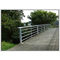 footbridge bridge handrail concrete cement steel