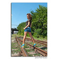 girl woman wife portrait railroad rails train nikon sigma pleven bulgaria