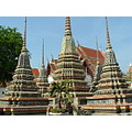 Smaller temples within the walls of Wat Pho in Bangkok Thailand
