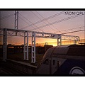 sunset over EuroTunnel : between England and France