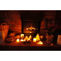 fireplace candles Christmas