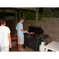 'barbecuing' at the Nes's house in Sydney.