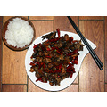 Sichuan Chilli Fried Rabbit with Rice  辣子兔