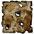 Photoshop burn paper map