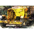 old yellow truck rusting abstract pankey wildspirit junk