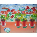 pelargonia flowers painting