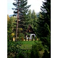 house land trees green forest landscape serbia