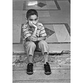 Portrait Istanbul Turkey Boy Doorstep Childhood