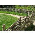9.  ........the fence round the vegetable patch was made in the traditional way too - not a nail ...