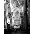 black and white cathedral christianity architecture