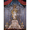 immaculate conception statue sculpture cospicua malta church silverware