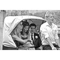 Wedding Guests BlackandWhite BW Carriage Portrait