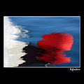 red reflections colour baloon boat sea water summer lesvos greece