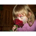 girl portrait closeup rose