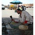 Djemaa el Fna - Marrakesh.  Once a bus station, the place was closed to traffic in the early 20...