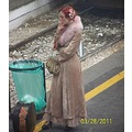 nive vintage girl in Railway station Milano