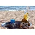 beer corona sea beach