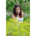 girl woman wife portrait spring meadow flowers outdoor bulgaria nikon