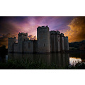 Bodiam castle sunset