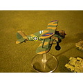 A model of a Gloster Gladiator fighter from 112 squadron RAF, Mediterranean theatre 1940-41.
