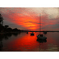 sunset noosa river