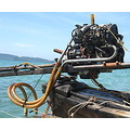 Krabi, motor of one of these boats that taxi you around from beach to beach
