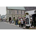 0166 Manipulated Cornwall Looe UK Street People Shop Road