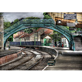 'Deserted Station': Pickering Station on the North Yorks Moors Railway in between trains.