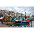 8627 Manipulated Mevagissey Cornwall UK Sea Coast Harbour Boat Moored Quey