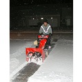 My husband cleaning off our driveway this morning....we only had a bit of snow last night, but he...