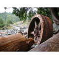 rusty wheel beach peterpinhole