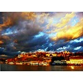 kalemegdan park danube belgrade night clouds