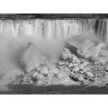At 5:27pm. B&W American Falls-NIagara Falls,N.Y.,USA-On Friday,Mar.29,2013