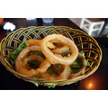 Onion rings as served in a Japanese restaurant in China.