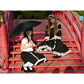 gothic lolita umbrella stripes