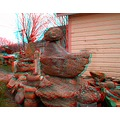 anaglyph 3D stereo rocks stones garden collection