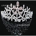 Exaggerate Flower Crystal Crown Wedding Crown